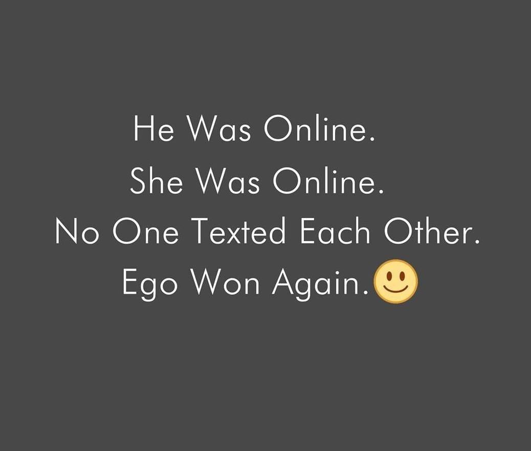 He Was Online...