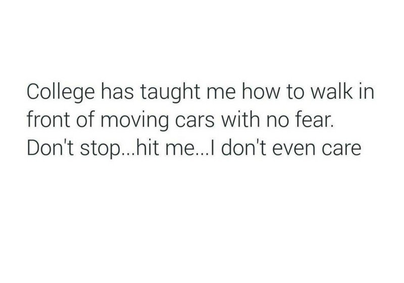 Collage Has Taught...