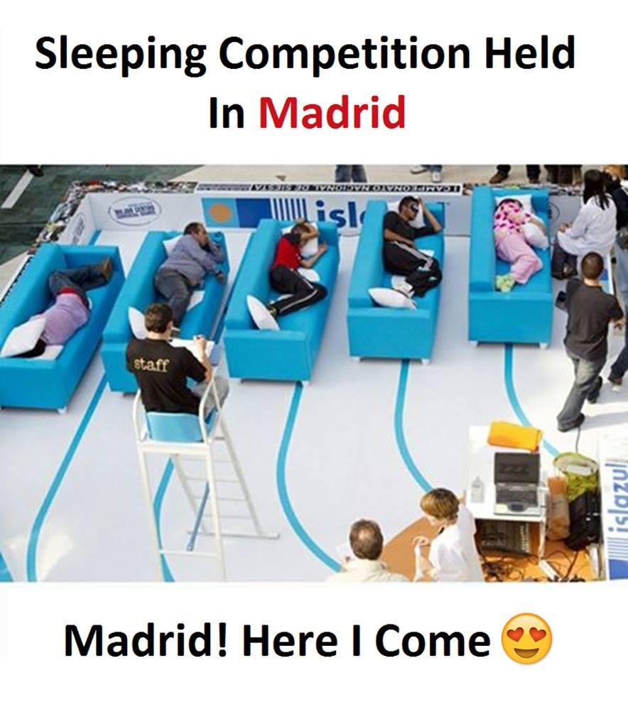 Sleeping Competition Held...
