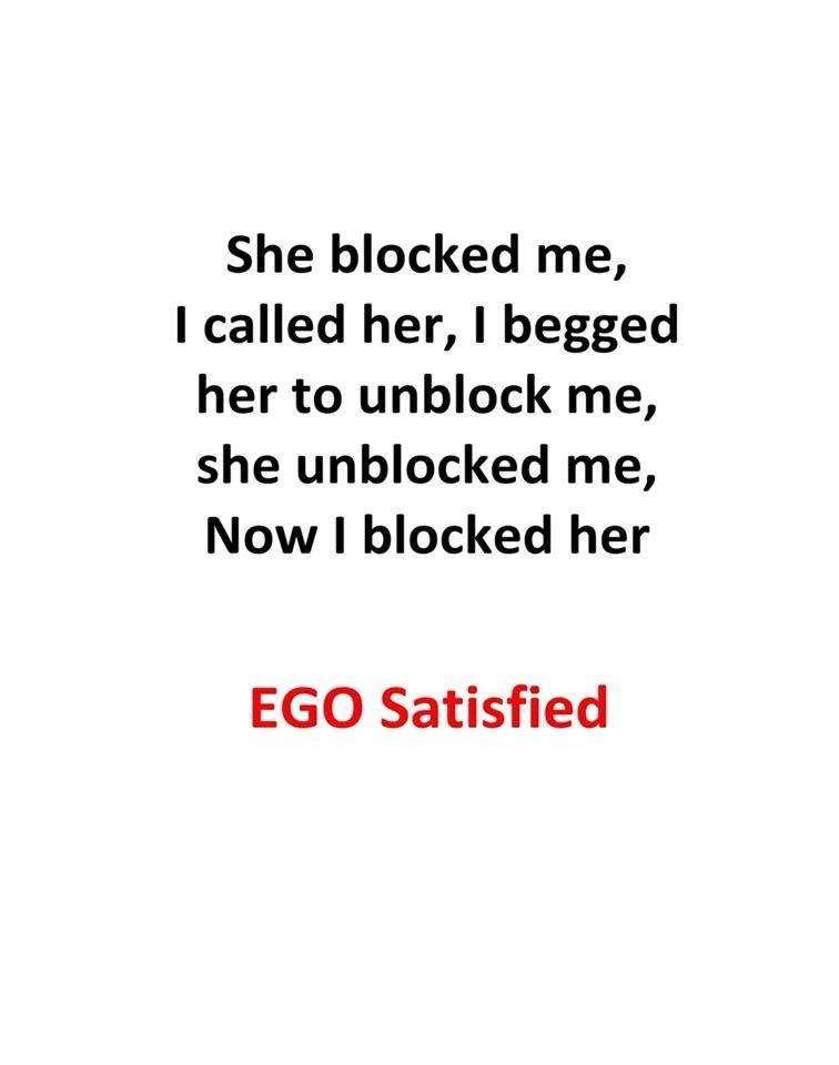 She Blocked Me...