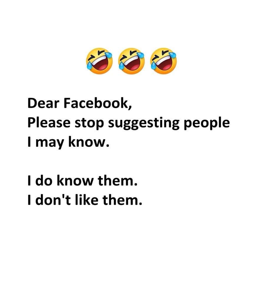 Dear Facebook, Please...