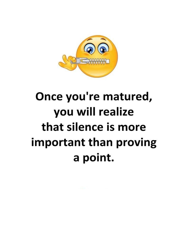 Once You're Matured...