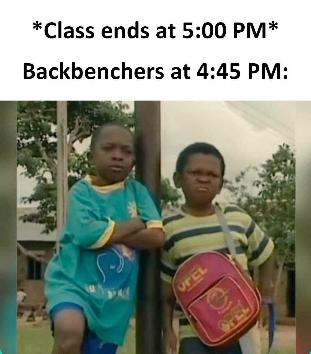 Class Ends At...