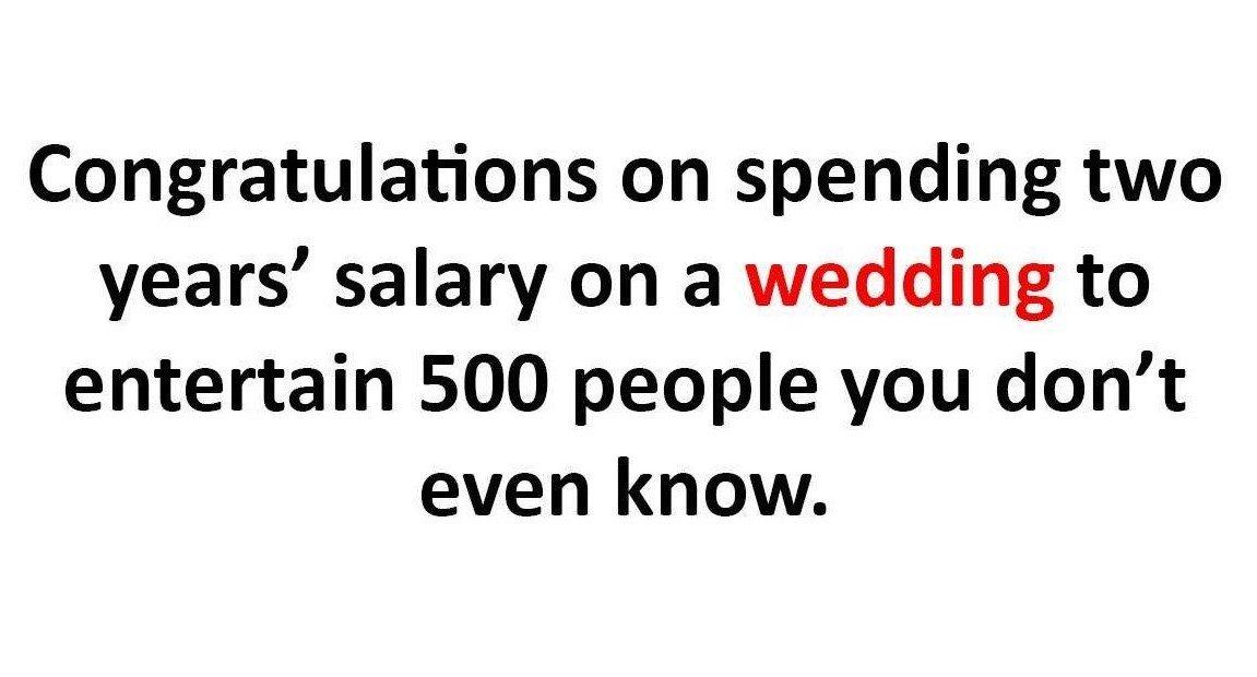 Congratulations On Spending...