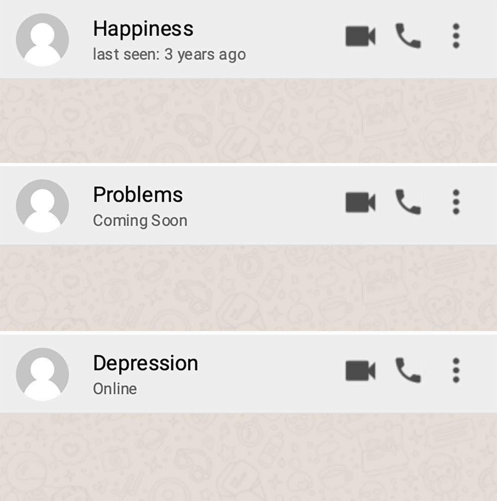Happiness, Problems, Depression...
