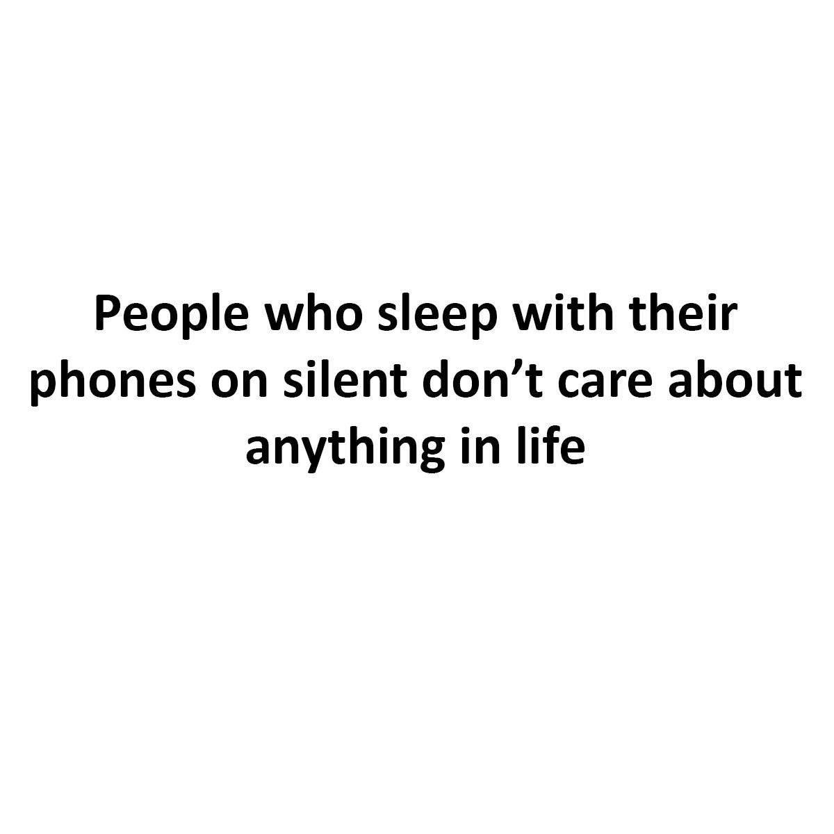 People Who Sleep...