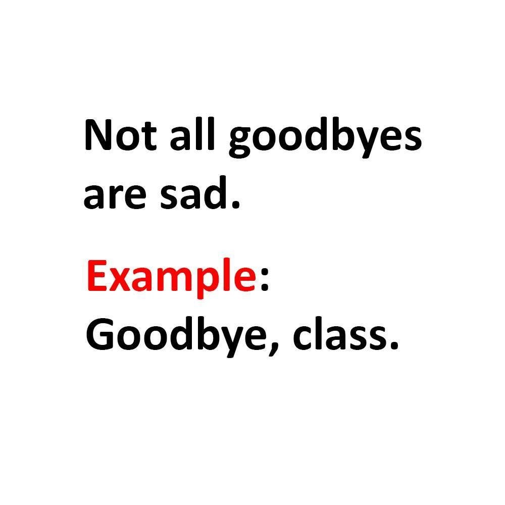 Not All Goodbyes...