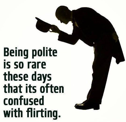 Being Polite Is...