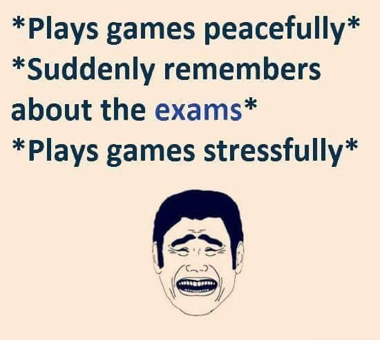 Plays Games Peacefully...