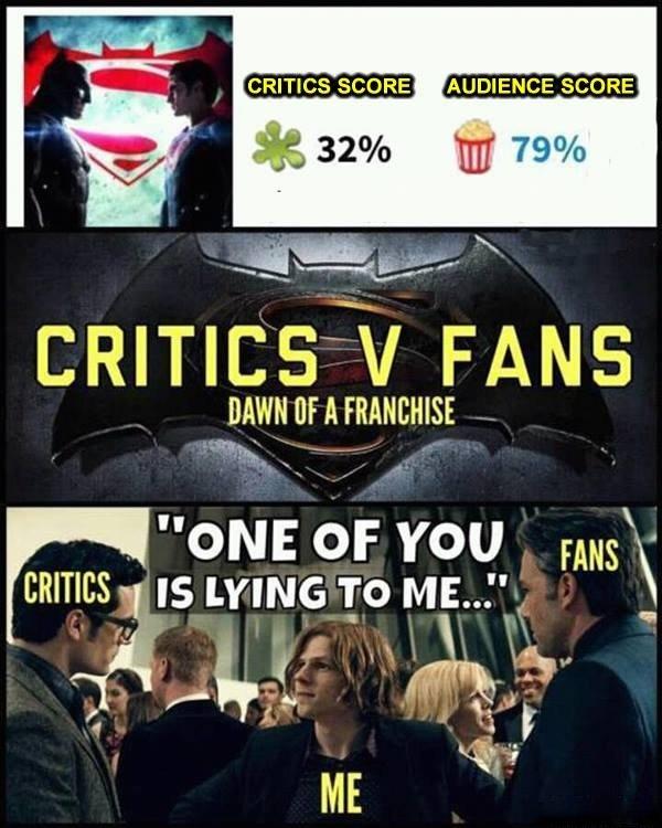 Critics Vs Fans...