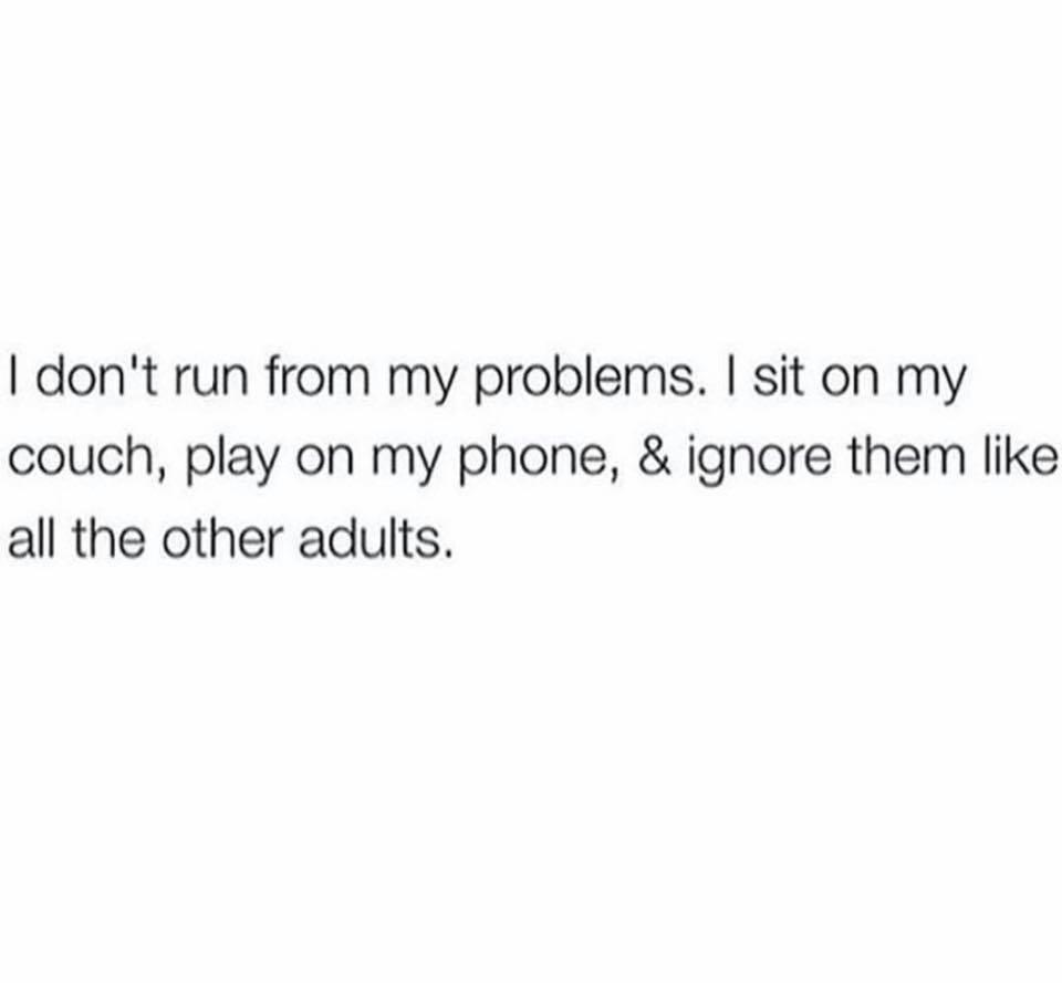 I Don't Run...