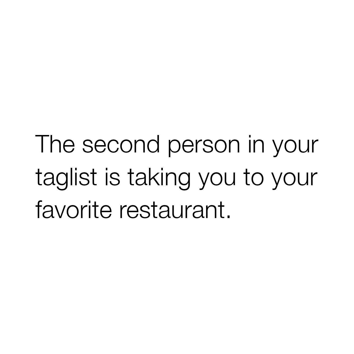 The Second Person...