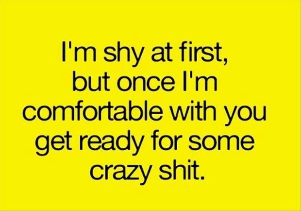 I'm Shy At...