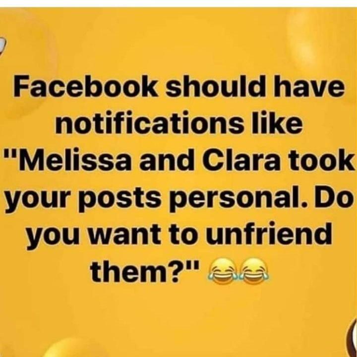 Facebook Should Have...