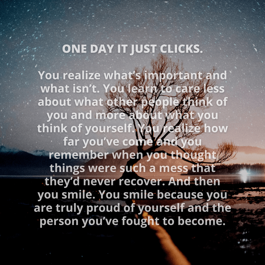 One Day It...