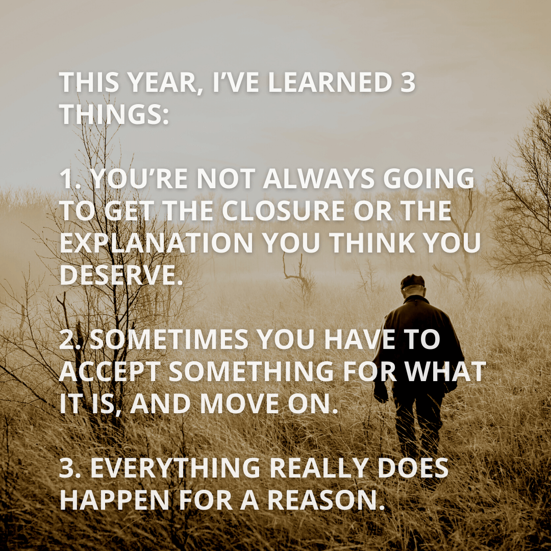 This Year I've...