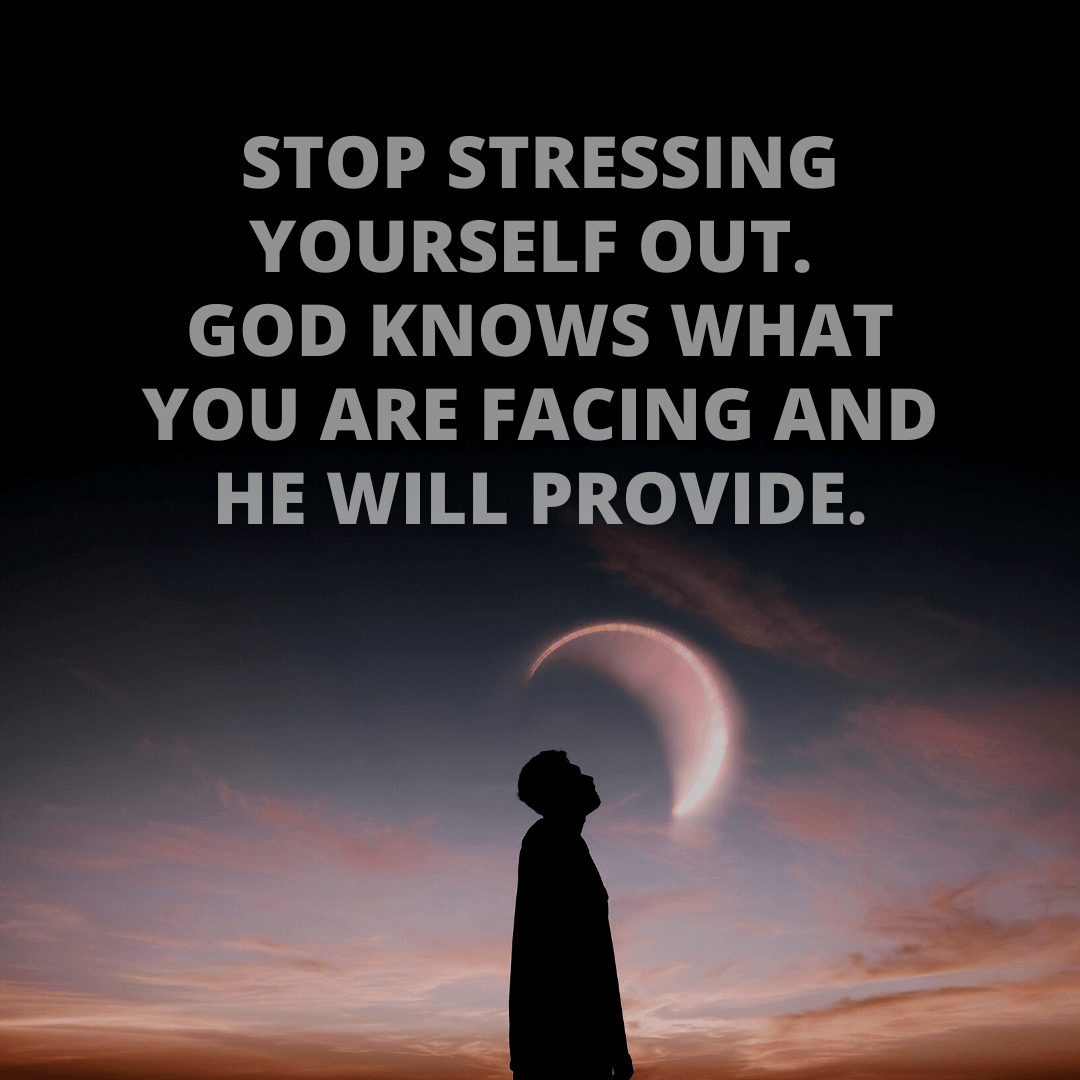 Stop Stressing Yourself...