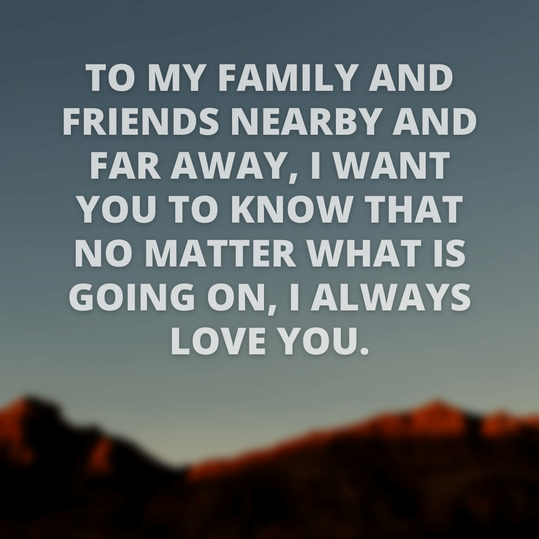 To My Family...