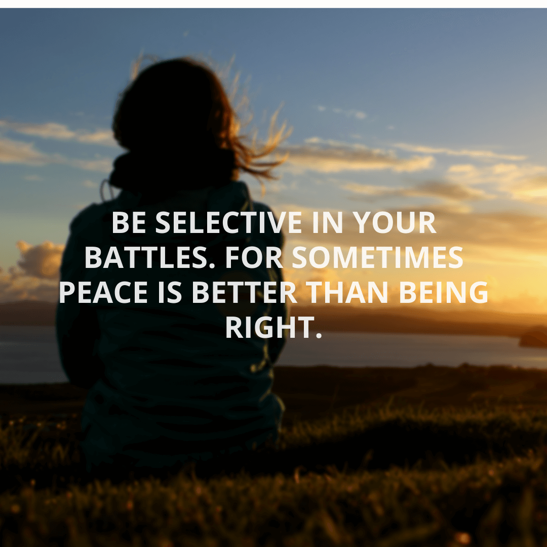 Be Selective In...