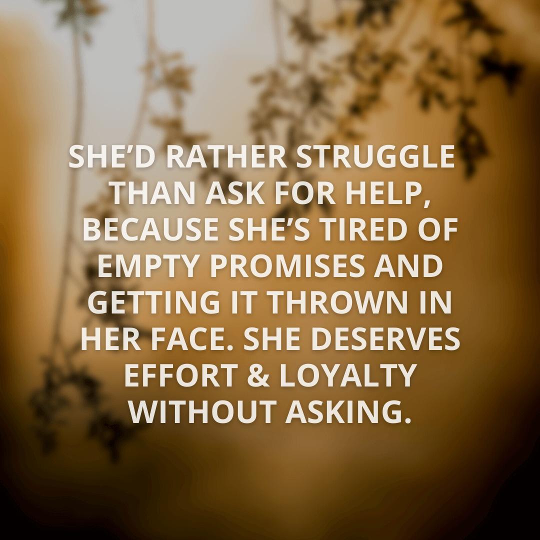 She'd Rather Struggle...