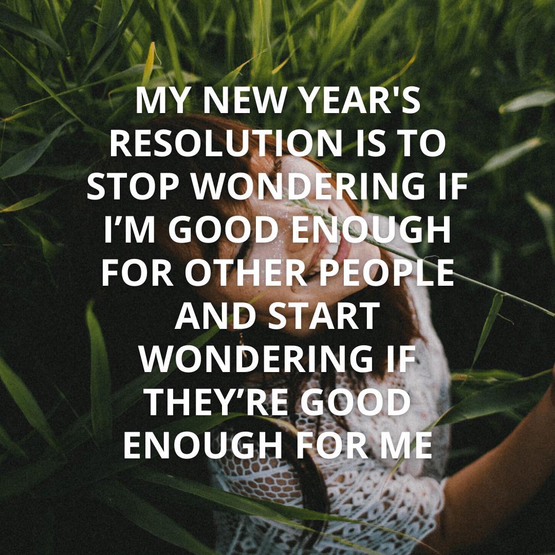 My New Year's...